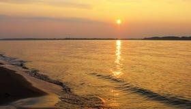 Volga sunset Stock Photography