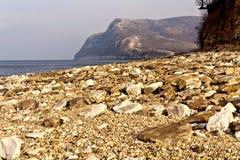 Volga wybrzeże Obrazy Royalty Free