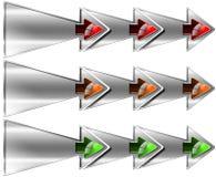 Volgende Stap Drie Dubbele Pijlen Royalty-vrije Stock Fotografie