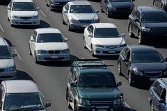 Volgestopte autosnelwegen stock afbeelding