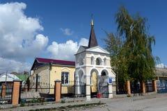 Volgodonsk主教管区的圣洁了不起的受难者和愈疗者Panteleimon的教会在Tsimlyansk 免版税库存图片