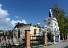 Volgodonsk主教管区的圣洁了不起的受难者和愈疗者Panteleimon的教会在Tsimlyansk 库存照片