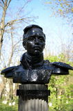 Bust of Mikhail Lermontov, opened in 1972 in the park at the intersection of Lenin Street and Lermontov Lane in Volgodonsk. Royalty Free Stock Images