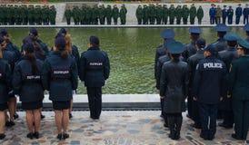 "VOLGOGRAD †""15 OKTOBER: Militaire parade stock afbeelding"
