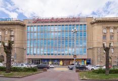 volgograd Россия 11-ое мая 2017 Здание универмага TSUM Волгограда центрального на пересечении Ostrovsky Squ Стоковая Фотография RF
