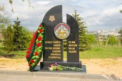 volgograd Россия 9-ое мая 2017 Памятник к героям Ossetia-Alania в воинском мемориале кладбища на Mamayev Kurgan внутри стоковое изображение