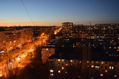 Volgograd. Archtecture and street of Volgograd Stock Image