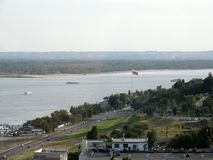 The city on the river Volga Royalty Free Stock Image