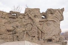 volgograd La Russie 1er avril 2017 Ensemble commémoratif aux héros de la bataille de Stalingrad, le complexe commémoratif de bas- Image stock