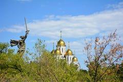 Volgograd, Mamayev Kurgan royalty-vrije stock fotografie