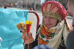 Volgograd, Maslenitsa 2017. Maslenitsa is an Eastern Slavic religious and folk holiday, celebrated during the last week before Great Lent. This is a traditional Royalty Free Stock Images