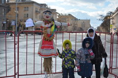 Volgograd, Maslenitsa 2017. Maslenitsa is an Eastern Slavic religious and folk holiday, celebrated during the last week before Great Lent. This is a traditional stock image