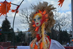 Volgograd, Maslenitsa 2017. Maslenitsa is an Eastern Slavic religious and folk holiday, celebrated during the last week before Great Lent. This is a traditional stock images