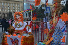 Volgograd, Maslenitsa 2017. Maslenitsa is an Eastern Slavic religious and folk holiday, celebrated during the last week before Great Lent. This is a traditional royalty free stock photos