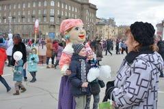 Volgograd, Maslenitsa 2017 royalty free stock images
