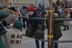 Volgograd, Maslenitsa 2017 royalty free stock image