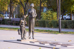 volgograd Monument aan eerste leraar stock foto
