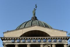 Volgograd. The Muse of astronomy Urania on the dome of the planetarium Royalty Free Stock Photo
