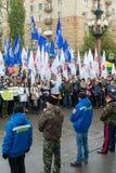 Volgograd, Rússia - 4 de novembro 2016 Comemorando o dia da unidade nacional do 4 de novembro Imagens de Stock Royalty Free
