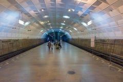 Volgograd Rosja, Listopad, - 01 2016 Lenin kwadrat - podziemna szybkościowa tramwaj stacja Obrazy Royalty Free