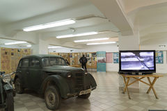 Volgograd Rosja, Listopad, - 02, 2016 Militarny wyposażenie w muzeum pamięć - Umieszcza niewoli fascist marszałka Paulus w wojnie Fotografia Stock