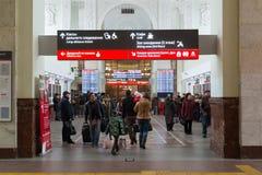 Volgograd Rosja, Listopad, - 04 2016 Wnętrze stacja kolejowa Zdjęcie Royalty Free