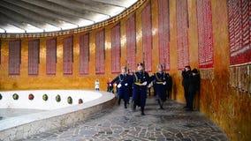 Volgograd Rosja, Listopad, - 2 2016 Zmiana strażnik honor w Hall Militarna chwała na Mamayev Kurgan zbiory