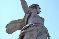 Volgograd, Russia - 1° giugno 2019: statua della patria Mamayev Kurgan fotografia stock
