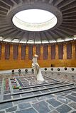 VOLGOGRAD, RUSSIA. The hall of Military glory with a torch of the Eternal flame. Mamayev Kurgan. VOLGOGRAD, RUSSIA - APRIL 23, 2017: The hall of Military glory royalty free stock image
