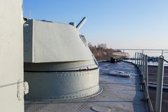 Fighting Armoured boat BK-13 Royalty Free Stock Image