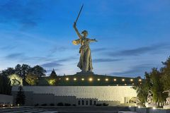 The Motherland Calls statue in Volgograd, Russia Royalty Free Stock Photos