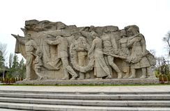 VOLGOGRAD, RUSSIA. Introduction sculptural comp. VOLGOGRAD, RUSSIA - APRIL 23, 2017: Introduction sculptural composition high relief `Memory of generations` at Stock Photography