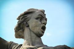 VOLGOGRAD, RUSSIA - MAY 3nd, 2017: Volgograd mamayev kurgan historical memorial complex Motherland. Volgograd Stalingrad mamayev kurgan historical memorial royalty free stock images