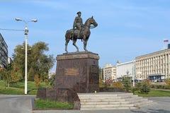 Konstantin Rokossovsky monument in Volgograd, Russia Stock Image