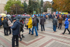 Volgograd, Russia - November 04.2016. People Near Heroes' Square At celebration of Day of National Unity Stock Photos