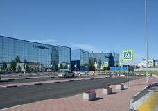 VOLGOGRAD, RUSSIE - 28 MAI 2018 : Aéroport international de Gumrak photographie stock