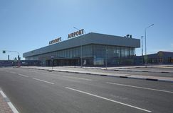 VOLGOGRAD, RUSSIE - 28 MAI 2018 : Aéroport international de Gumrak images libres de droits