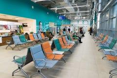 Volgograd, Russie - 4 novembre 2016 Salle d'attente à l'aéroport de Gumrak Photos stock