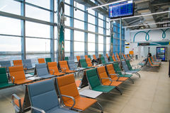 Volgograd, Russie - 4 novembre 2016 Salle d'attente à l'aéroport de Gumrak Image libre de droits