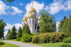 volgograd Ryssland - Juni 3rd 2017 Helgonen för kyrka allra på Mamayev Kurgan i Volgograd Arkivfoton