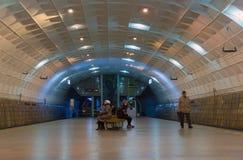 Volgograd Ryssland - November 01 2016 Lenin fyrkant - underjordisk snabb spårvagnstation Royaltyfria Bilder