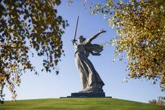 Volgograd. Sculpture. Volgograd. 'Mamayev Kurgan' - historical memorial complex. Sculpture 'Motherland Royalty Free Stock Photography