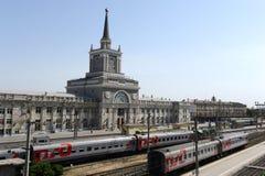 Volgograd train station. royalty free stock photography