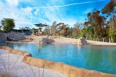 Volière d'éléphant en San Diego Zoo Photo libre de droits
