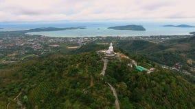 Voli alla grande statua di Buddha a Phuket, Tailandia Immagine Stock Libera da Diritti