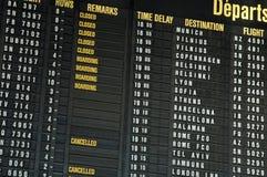 Voli dell'aeroporto Fotografie Stock Libere da Diritti