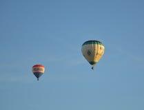 Voli della mongolfiera sopra Melbourne immagine stock
