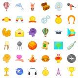 Volition icons set, cartoon style. Volition icons set. Cartoon set of 36 volition vector icons for web isolated on white background Stock Image