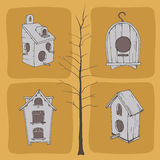 Voljärer och träd Vektor Illustrationer