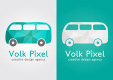 Volk Pixel creative icon symbol. Sweet flat modern. With a pixel diamond texture. Creative design agency Royalty Free Stock Image